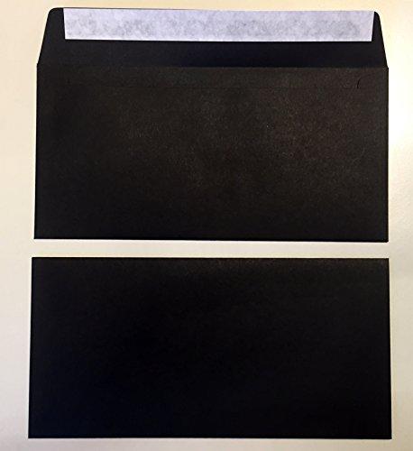 50 Kuverts, Schwarz, DIN lang = 220 x 110 mm, Haftklebestreifen, Umschläge, Caribic von IGEPA