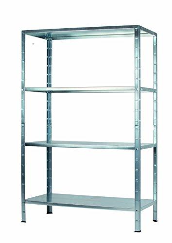 Regal Steckregal Metall verzinkt 190x100x40cm Traglast 280kg 4 Böden Schulte
