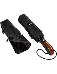 Regenschirm Taschenschirm | VAN BEEKEN – windtest bei 140 km/h, wasserabweisende Teflon-Beschichtung, leicht, klein & kompakt - stabiler Schirm mit voll-automatischer Auf-Zu-Automatik, schwarz 95cm