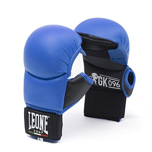 LEONE 1947gk096, Handschuhe fit-Karate Unisex Erwachsene M blau