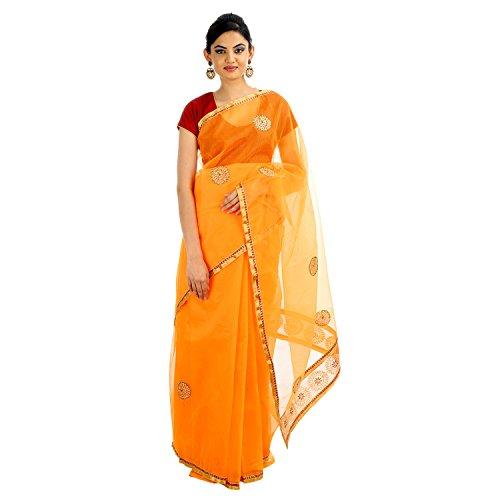 Vibhawari Sarees Women Cotton Pilla Resham Saree With Blouse Piece