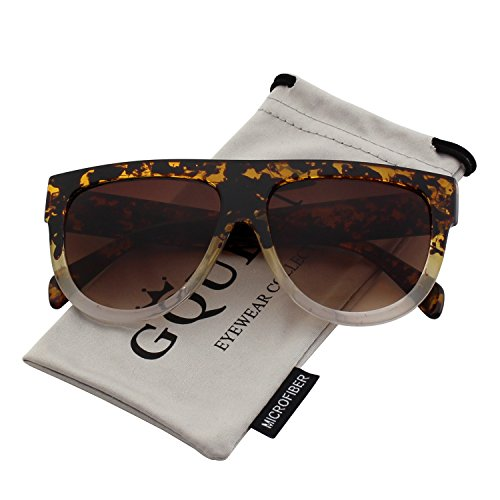 Gqueen occhiali da sole donna large oversize quadrati retro vintage mos9