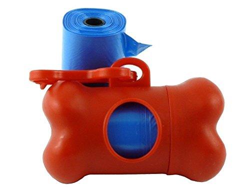 komener Knochen Form Hund Katze Poo Kotbeutelspender Doggy Poop Box Papiertaschen Tüten rot (Haustier Abfall-entsorgung Hund)