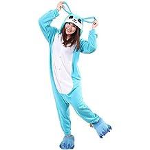 Samgu Unisexo Adulto Conejo Animal Onesie Kigurumi Pijama Fiesta de Halloween Disfraz