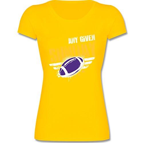 Sport Kind - Any Given Sunday Football Minnesota - 164 (14-15 Jahre) - Gelb - F288K - Mädchen T-Shirt (Minnesota Vikings-kinder T-shirts)