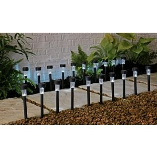 Set of 20 Beautiful Black Solar Lights