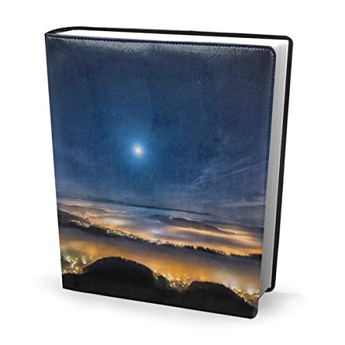 Dress rei Book Cover Beautiful Scenery Pleasant Waterproof PU Leather School Book Protector Washable Reusable Jacket 9x11 in - Protector Hard Case, Snap