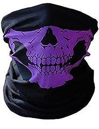 Biker Skeleton Skull Face Mask BMX - Airsoft - Ski Snood Neck Warmer