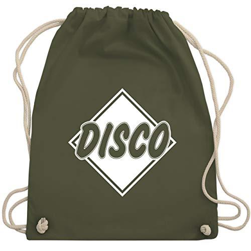 Festival Turnbeutel - Disco - Unisize - Olivgrün - WM110 - Turnbeutel & Gym Bag