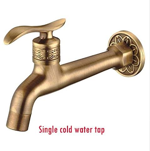 Ohcde Dheark Hot Sale Antique Brass Bibcock, Outdoor Faucet, Brass Decorative Garden Tap/Washing Machine Water Mixer