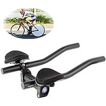 Manillar para Triathlon Bicicleta barra de descanso TT manillar barras Tri barras Relaxlation manillas Triatlón Aero bicicleta aleación de aluminio brazo resto bicicleta para carretera c