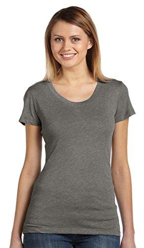 Bella -  T-shirt - Asimmetrico - Donna Bianco (White Fleck Triblend)