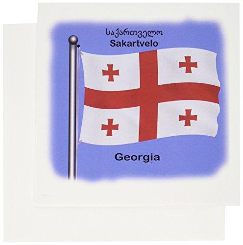 ndes, Georgien, winkt mit Georgien, englisch und georgisch. - Grußkarten, 15,2 x 15,2 cm, 12 Stück (gc_63156_2) ()