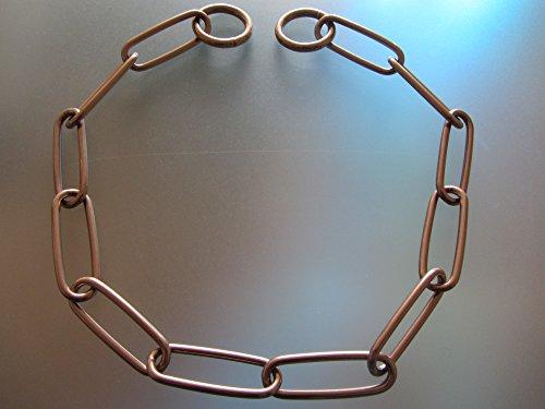 Artikelbild: Sprenger Kettenhalsband Langgliedkette mit 2 Ringen Curogan 3 mm für Hunde bis 35 kg (62 cm)