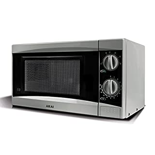 Akai A24002 Manual Solo Microwave with 6 Power Levels, 800 W, 20 Litre, Silver