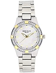 Mike Ellis New York Damen-Armbanduhr Luxury Analog Quarz Edelstahl SL2968A2