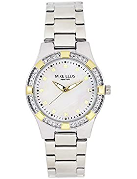 Mike Ellis New York Damen-Armbanduhr Luxury Analog Quarz Edelstahl SL2968A2