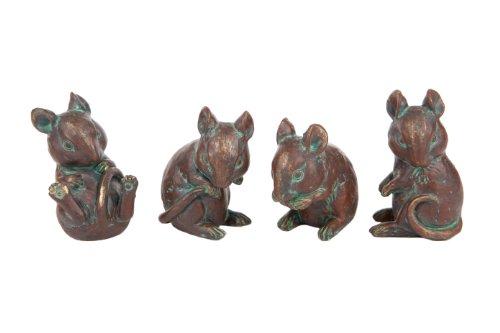 London Ornaments LO7512076 Dekofiguren Mäuse, 4Stück (Birdcage Feeder)