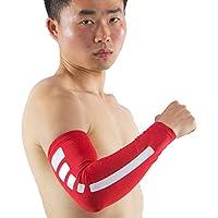 Eleganantamazing Adeeing - Manga de Compresión Unisex Antideslizante para Protección UV, Talla M