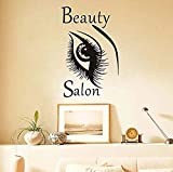 Moda Bella Big Eye Wall Sticker Bellezza Donna Sopracciglio Salon FAI DA TE Home Decor Vinile Adesivo Adesivo Top Selling92X58Cm