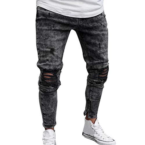 Herren Jeans Hose Denim Grau Straight-Cut Gerades Sweatpants Hosen Sporthose Jogger Pants Jeans Zipper Track Pants Chinohose Casual Stretch Softhose Big Size Bermuda Hose Trousers - Womens Designer-bermuda