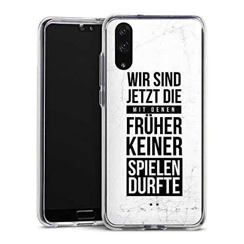 DeinDesign Huawei P20 Handyhülle Bumper Case Schutzhülle Humor Fun Phrases