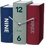 Karlsson - Horloge Livres à poser Book bleu vert rouge Karlsson