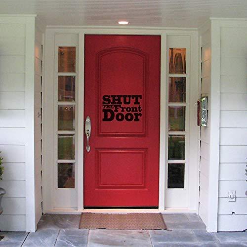 stickers muraux ecriture anglais stickers muraux 3d jeux video fermer la porte d'entrée pour le signe de la porte