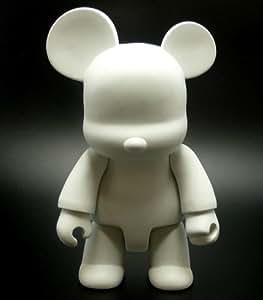 Toy2R - Figurine Qee BearQ 8-Inch / 20 Cm Blank Diy Ours à graffer Munny
