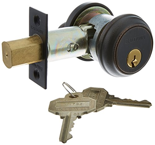 Keyed Baldwin Hardware (Baldwin Hardware 8031.412 Deadbolt Lock by Baldwin)