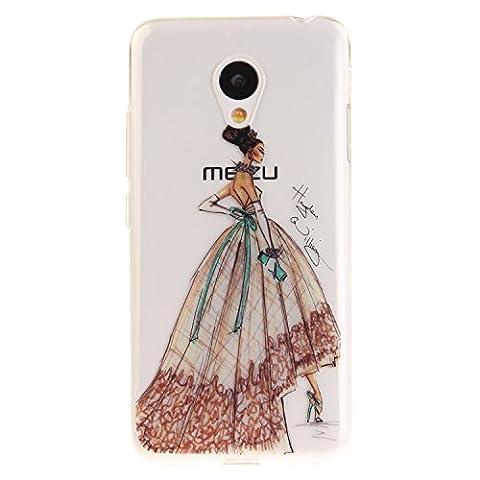 "Meizu M3 Hülle, SsHhUu Kratzfeste Clear Durchsichtig Ultra Slim TPU Schutzhülle Bumper Tasche Cover Case für Meizu M3 (5.0"") - Elegantes Charmantes Tanzenmädchen"