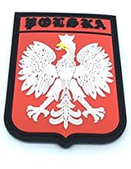 Remiendo del PVC Polska Polonia Escudo Cresta Bandera de Velcro