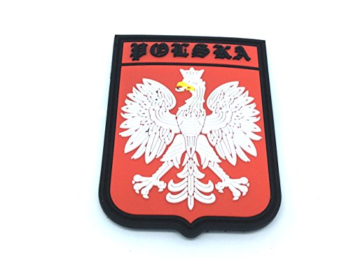 Patch Nation Remiendo del PVC Polska Polonia Escudo Cresta Bandera de Velcro