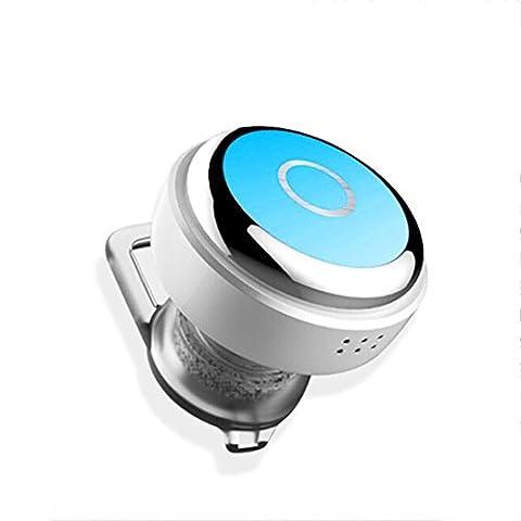 Joyeer Mini Kopfhörer Wireless Bluethooth Earphon Voice Control Earbud Universal In-Ear Sport Stereo Rauschunterdrückung Headset mit Mic für Smartphones / Ipad , blue