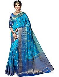 MSRETAIL Women's Banarasi Poly Silk Saree With Blouse Piece