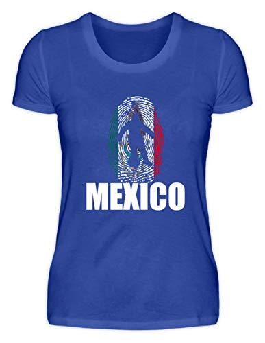 Generic Hochwertiges Damenshirt - WM Mexiko Trikot Russland 2018 Für Mexikaner Fans Fußball Fingerabdruck National Design