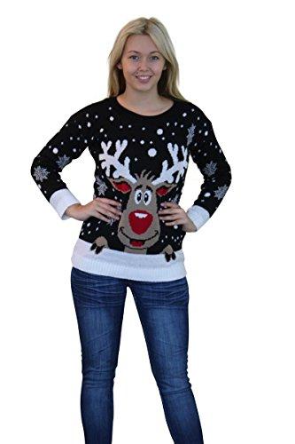 GirlTalk - Jersey navideño de punto,...