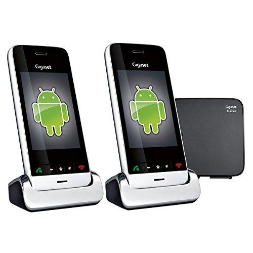 SL930A Gigaset Teléfono Inalámbrico Fijo Android 4.0.4 Ice Cream Sandwich Contestar 2 Auriculares Negros (Importado)
