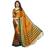 VJ FASHION Women's self desgin cotton silk saree(mustrad)