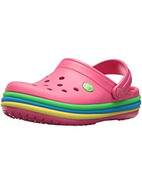 Crocs Crocband Rainbow Band Clog K Paradise Pink Croslite Infant Clogs Sandals