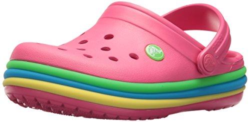 Crocs Crocband Mädchen (crocs Unisex-Kinder Cb Rainbow Band K Clogs, Paradise Pink 6np, 29/30 EU)