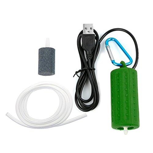 Queta Mini Sauerstoffpumpe USB Aquarium Sauerstoff Luftpumpe Aquarium Zubehör grün grün