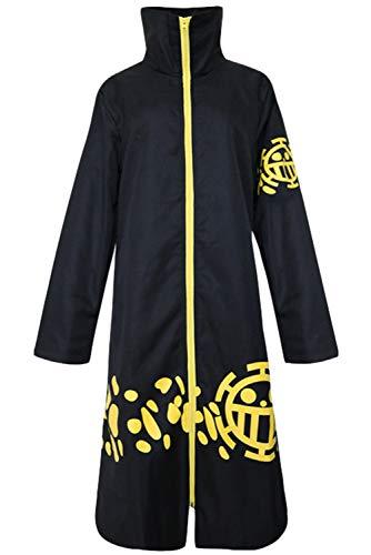 Karnestore Trafalgar D Water Law One Piece Mantel Umhang Cosplay Kostüm nach dem Zeitsprung Herren XL