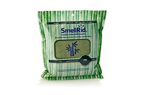 SMELLRID Wiederverwendbar Bambus Aktivkohle Geruch Entferner Tasche–XX Groß (21,6x 21,6cm): behandelt bis zu 300² 6m zu beseitigen Gerüche, Schadstoffe & Feuchtigkeit (Tasche Pre-filter)