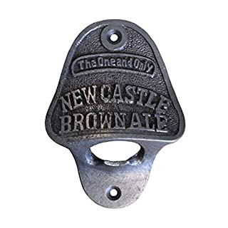 Wall Mounted Vintage Bottle Opener Antique Cast Iron - Newcastle Brown Ale
