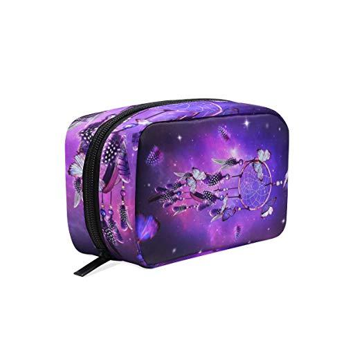Bolsa de maquillaje, atrapasueños, mariposa, estrella, bolsa de cosméticos