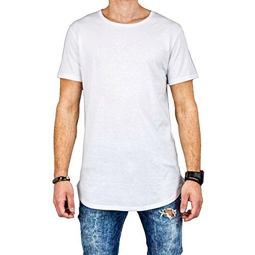 c2e83268924b8f PLUR STUDIOS Langes Kurzarm T-Shirt - Schwarz und Weiß – Premium Pima  Baumwolle - Longshirt für Herren - Oversized Oberteil für Männer - Basic  Rundhals Tee ...