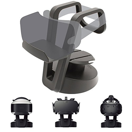 VR Glasses Headset Holder - UltraGear Universal 3D Goggles Storage Display Stand plus Cable Organiser for SONY PS VR Oculus Rift HTC VIVE Samsung Gear VR