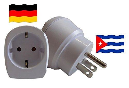 Preisvergleich Produktbild Design Reisestecker Adapter für Kuba auf Deutschland für Schukostecker, Umwandlungsstecker CU-D