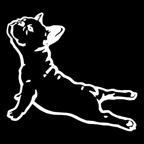tonywu Auto Sticker Decal Creativo personalità Cartoon Slouch Cane Decorativo Riflettente Impermeabile Protezione Solare del Corpo della Porta Posteriore del Vetro Adesivo 16X15CM B 2PCS